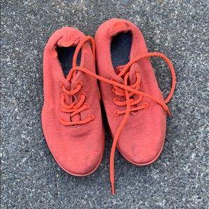 Orange Allbirds Wool Runners 8